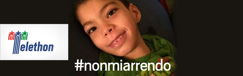 Davide took part in the campaign Telethon 2015 #NONMIARRENDO