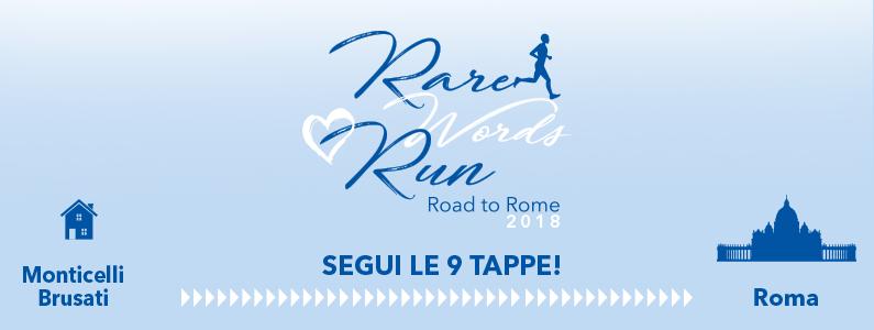 Rare Words Run: segui tutte le tappe!